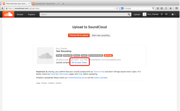 Soundcloud screenshot